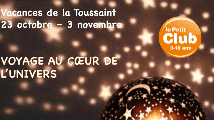 Vacances de la Toussaint : Vers l'infini, et au-delà !